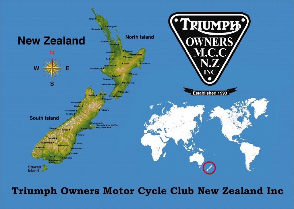 NZ and world map