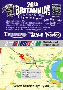 britanniarally Danmark 2016 plakat